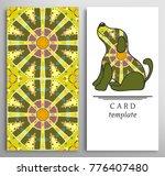set of decorative backgrounds... | Shutterstock .eps vector #776407480