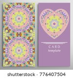 set of decorative cards with... | Shutterstock .eps vector #776407504
