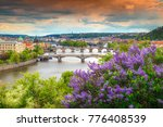 amazing spring cityscape ... | Shutterstock . vector #776408539