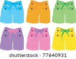 shorts woman fashion set.... | Shutterstock .eps vector #77640931
