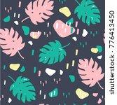 hand drawn jungle leaves.... | Shutterstock .eps vector #776413450