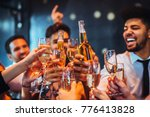 group of friends toasting with... | Shutterstock . vector #776413828