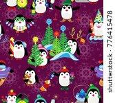 vector seamless pattern.... | Shutterstock .eps vector #776415478