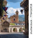 Small photo of Sulmona (L'Aquila, Abruzzi, Italy), historic buildings in Garibaldi square