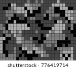 abstract digital camouflage... | Shutterstock .eps vector #776419714