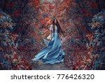 mysterious sorceress in a... | Shutterstock . vector #776426320