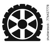 auto tire icon. simple... | Shutterstock .eps vector #776427778