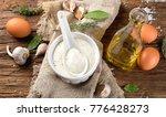 homemade garlic mayonnaise... | Shutterstock . vector #776428273