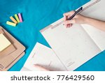 woman planning agenda and... | Shutterstock . vector #776429560