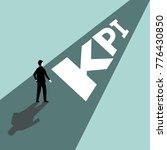 kpi is key performance... | Shutterstock .eps vector #776430850