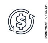 money transfer icon. isolated... | Shutterstock .eps vector #776432134