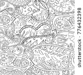 tracery seamless pattern.... | Shutterstock .eps vector #776432398
