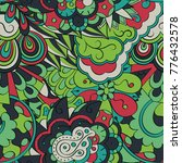 tracery seamless pattern.... | Shutterstock .eps vector #776432578