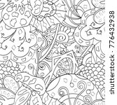 tracery seamless pattern.... | Shutterstock .eps vector #776432938