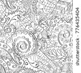 tracery seamless pattern.... | Shutterstock .eps vector #776435404