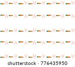 isolated pattern of bunny ears... | Shutterstock .eps vector #776435950