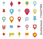 map pointer icons set. flat... | Shutterstock .eps vector #776437984