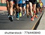 marathon running in the light... | Shutterstock . vector #776440840