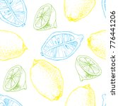 seamless vector pattern with... | Shutterstock .eps vector #776441206