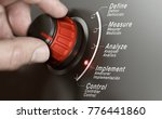 hand turning a dmaic knob over... | Shutterstock . vector #776441860