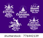christmas  new year logo or... | Shutterstock .eps vector #776442139