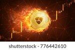 golden ethereum coin in fire... | Shutterstock . vector #776442610