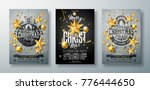 vector merry christmas party...   Shutterstock .eps vector #776444650