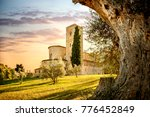 abbey of sant'antimo in... | Shutterstock . vector #776452849
