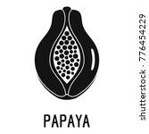 papaya icon. simple... | Shutterstock .eps vector #776454229