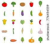 fresh vegetables icons set.... | Shutterstock .eps vector #776454559