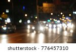 blurred road at night | Shutterstock . vector #776457310