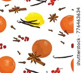 spices and citrus fruits used... | Shutterstock .eps vector #776463634