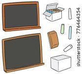 vector set of blackboard and... | Shutterstock .eps vector #776464354