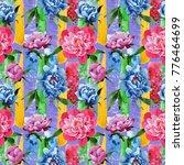 wildflower pink peony flower... | Shutterstock . vector #776464699
