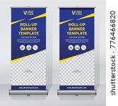 roll up sale banner design... | Shutterstock .eps vector #776466820