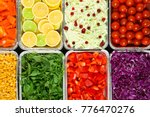 top view of salad bar with... | Shutterstock . vector #776470276
