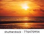 beautiful sunset on the sea   Shutterstock . vector #776470954