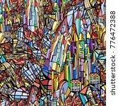 vector seamless pattern....   Shutterstock .eps vector #776472388