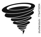 hurricane icon. simple... | Shutterstock .eps vector #776473354