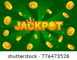 vector jackpot and gold coins...