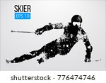 silhouette of a skier isolated. ... | Shutterstock .eps vector #776474746