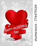 valentines day background with... | Shutterstock .eps vector #776479234