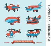 vector images of air transport... | Shutterstock .eps vector #776482246