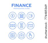 finance thin icons. finance... | Shutterstock .eps vector #776485369