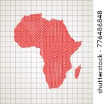 sketch african continent... | Shutterstock .eps vector #776486848