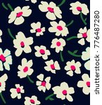 cute floral pattern in the... | Shutterstock .eps vector #776487280