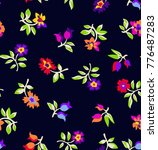 cute floral pattern in the... | Shutterstock .eps vector #776487283