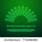 wireframe low poly mesh tension ... | Shutterstock .eps vector #776488384