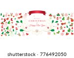 christmas and happy new year... | Shutterstock .eps vector #776492050