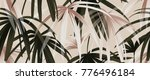tropical plant seamless pattern ... | Shutterstock .eps vector #776496184